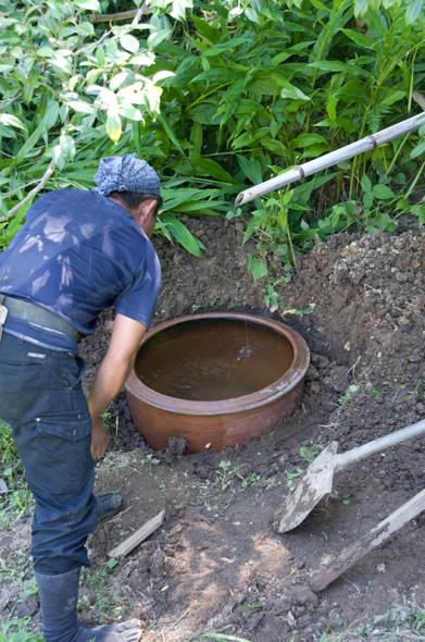 つくばい・水鉢 庭師 北住さん