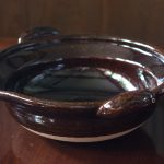 写真: 土楽窯 口付黒鍋